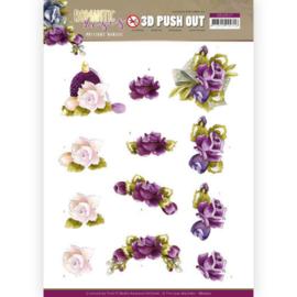 3D Push Out - Precious Marieke - Romantic Roses - Purple Roses