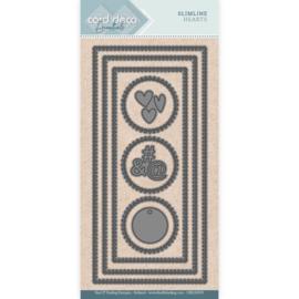 Card Deco Essentials - SlimLine Dies - Slimline Hearts