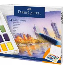 Waterverf set, 24 kleuren, met palet