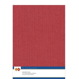 Linnenkarton - A4 - Rood