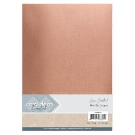 Card Deco Essentials - Metallic Linnenkarton - Metallic Copper