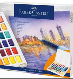 Waterverf set, 48 kleuren, met palet