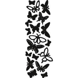 Craftables snij- embosstencil Vlinders