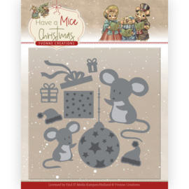 Snijmal - Yvonne Creations - Have a Mice Christmas - Christmas Mouse Gift
