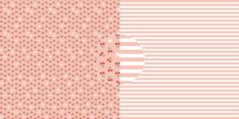 Scrappapier Kersen- strepen