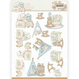 3D knipvel  - Yvonne Creations - Newborn - Baby Rocking Horse