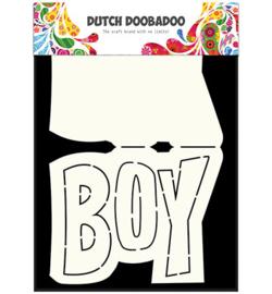 Card Art Text 'Boy' (Jongen)