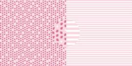 Scrappapier Aardbeien - strepen
