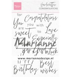 Clear stamp Handwritten - Congratulations