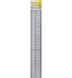 Liniaal met metalen strip 30cm