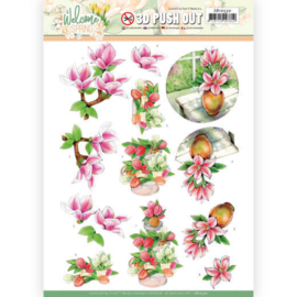 3D Push Out - Jeanine's Art Welcome Spring - Magnolia