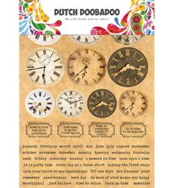 Dutch Sticker Art Clocks