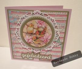 Gefeliciteerd magnolia & meesjes