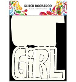 Card Art Text 'Girl' (meisje)