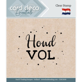 Card Deco Essentials - Clear Stamps - Houd vol