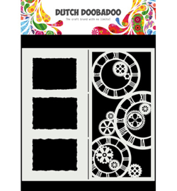 Mask Art Slimline Clocks - Dutch Doobadoo