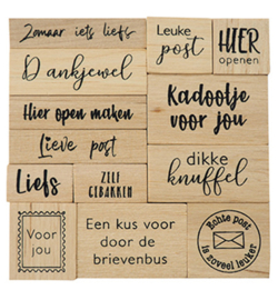 CS1075 - Houtenstempel set - Kadopost