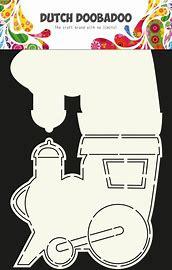 Card Art Stencil Train A4