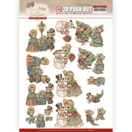 3D Push-out - YC - Have a Mice Christmas - Christmas Carol
