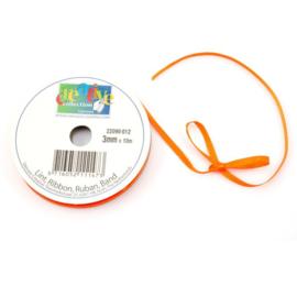 Satijn lint 3mm - oranje
