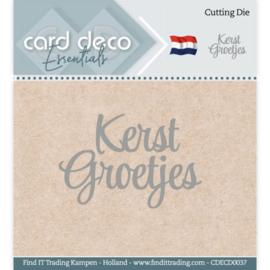 Card Deco Essentials - Cutting Dies - Kerst Groetjes