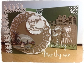 Groetjes uit Holland... Made with Marthy