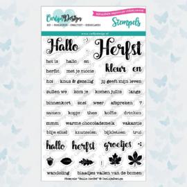 Clear stamp - tekst Hallo Herfst