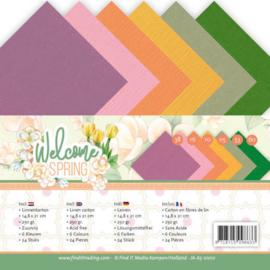 Linnen Cardstock Pack - A5 - Jeanine's Art Welcome Spring