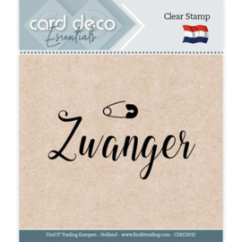 Card Deco Essentials - Clear Stamps - Zwanger