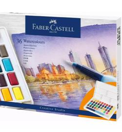 Waterverf set, 36 kleuren, met palet