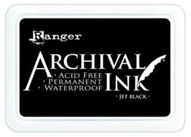 Archival ink pad - Jet black