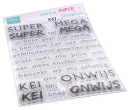 Clear Stamps SUPER-MEGA-KEI-ONWIJS (NL)
