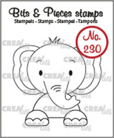 Crealies Clearstamp Bits & Pieces Olifant CLBP230