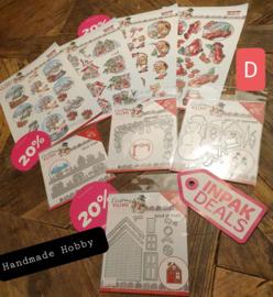 INPAKDEAL Pakket D: Christmas Village - Yvonne Creations