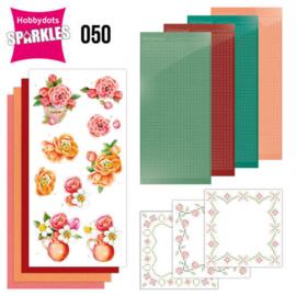 Sparkles Set 50 -  Jeanine's Art - Orange Flowers