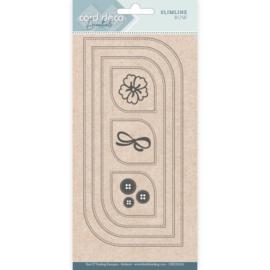 Card Deco Essentials - Slimline Dies - Slimline Bow