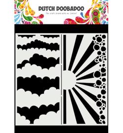 Mask Art Slimline Clouds - Dutch Doobadoo