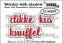 Crealies Wordzz metschaduw Dikke kus (NL) CLWZ07