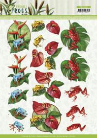 3D knipvel - Amy Design - Friendly Frogs - Poison Frogs