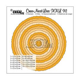 Crea-Nest-Lies XXL 92 Cirkels met ruwe randen