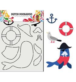 Dutch DooBaDoo 470.713.849 - Card Art Built up Zeeleeuw