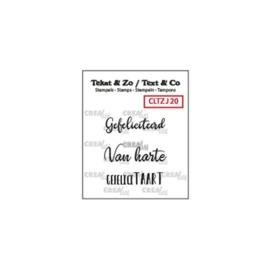 Crealies Clearstamp Tekst&Zo 3x Jarig (NL)