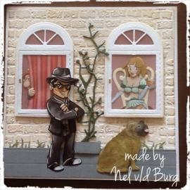 Ontdeugend kaartje... Made by Nel v/d Burg