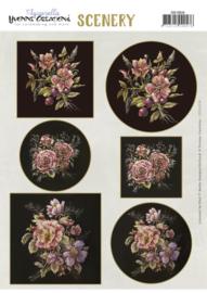 Scenery - Yvonne Creations - Aquarella - Antique Flowers