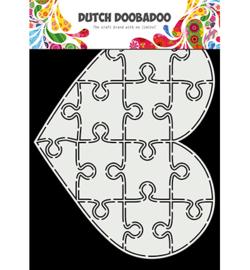 Dutch DooBaDoo 470.713.847 - Card Art Puzzel hart