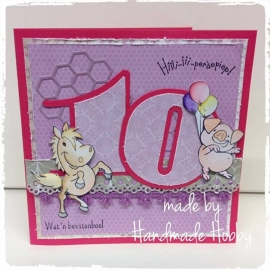 10 jaar... Made by Handmade Hobby