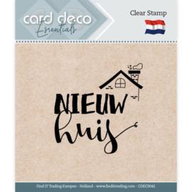 Card Deco Essentials - Clear Stamps - Nieuw Huis