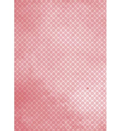 Achtergrond papier A4 - Red mandalas