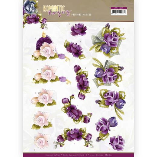 3D Knipvel - Precious Marieke - Romantic Roses - Purple Rose