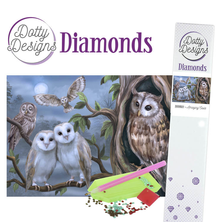 Dotty Designs Diamonds - Amazing Owls